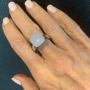 Emporio Armani Sterling Silver Blue Quartz Ring